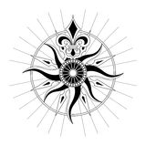 Vector Antique Compass Rose. High detail antique Compass rose vector illustration Stock Photography