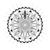 Vector Antique Compass Rose Royalty Free Stock Photos