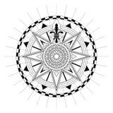 Vector Antique Compass Rose. High detail antique Compass rose vector illustration stock illustration