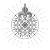 Vector Antique Compass Rose. High detail antique Compass rose vector illustration Stock Photo