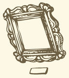Vector antique frame royalty free illustration