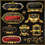 Vector antique gold frame Royalty Free Stock Photography