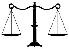 vector antique scales of justice Royalty Free Stock Photography