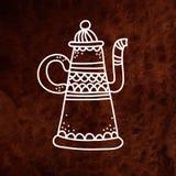 Vector antique teapot. White. Vector design Stock Photography