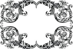 Vector Antique Vintage Frame. Royalty Free Stock Photo