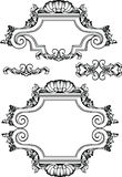 Vector Antique Vintage Frames And Elements. Stock Photography