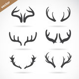 Vector antler icon set Royalty Free Stock Photo
