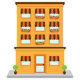 Vector Apartment Building on Street Royalty Free Stock Images