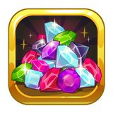 Vector app icon with colorful shiny jewels Stock Photo