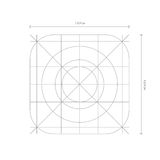 Vector app icon dimensions, development grid line Stock Image