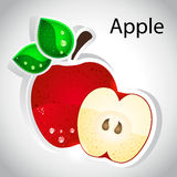 Vector apple royalty free illustration