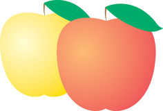 Vector apple Stock Images