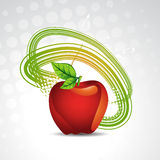 Vector apple background Stock Photo