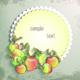 Vector apple banner. Design for sweets and pastries filled with apple, dessert menu, health care products. With place for text Stock Photography