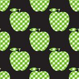 Vector Apple green checkered abstract. Seamless pattern tile isolated on black background. Apple green checkered abstract. Seamless pattern tile isolated on royalty free illustration