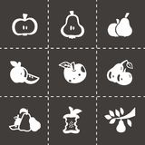 Vector Apple and pear icon set Royalty Free Stock Image