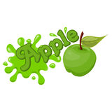 Vector apple splash Stock Photography