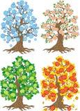 Vector apple tree. Tree collection. Tree season Stock Photography