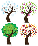 Vector apple trees Royalty Free Stock Image
