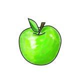 Vector Apple verde Foto de archivo libre de regalías