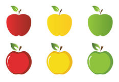 Vector apples collection Royalty Free Stock Images