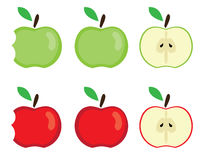 Vector apples set Royalty Free Stock Image