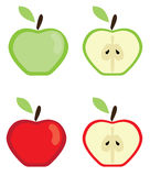 Vector apples set Stock Photos