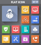 Vector application Computer Technician Icons set Stock Photography