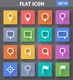 Vector application Map Pointer Icons se Royalty Free Stock Photos