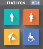 Vector application Restroom Icons set Stock Photos