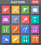 Vector application Tools Icons set in flat style Stock Photo
