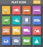 Vector Application Transport Icons Set In Flat Style Royalty Free Stock Image