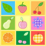 Vector applique fabric Stock Images