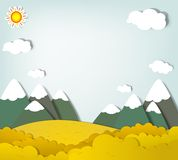 Vector applique. Mountain landscape. Vector applique. Autumn mountain landscape Royalty Free Stock Images