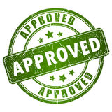 Vector approved stamp Royalty Free Stock Images