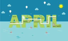 Vector april infographic wallpaper. Wallpaper vector april for website design, illustrator, infographic and manipulation picture vector illustration