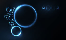 Vector aqua background Royalty Free Stock Images