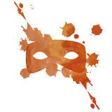Vector aquarelle mask with splash Royalty Free Stock Photos