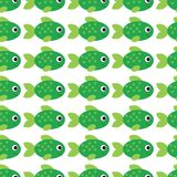 Vector aquarium fish illustration. Colorful cartoon flat aquarium fish for your design. Seamless fish pattern for baby vector illustration