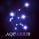 Vector of the aquarius zodiac sign Royalty Free Stock Photography