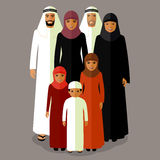 Vector arab family Stock Images