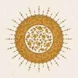 Vector arabesque design with floral design and arabic pattern. design for print, interior, tile Royalty Free Stock Images