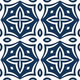 Blue Arabesque Pattern Stock Images