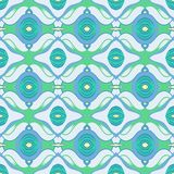 Vector Arabic pattern in cool blue and green Royalty Free Stock Photography