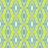 Vector Arabic pattern in lime and jade green Stock Photography