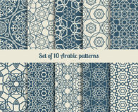 Vector arabic patterns. Set of vector arabic patterns. Wallpaper backgrounds with abstract texture