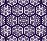 Vector Arabic seamless pattern with floral elements. Royalty Free Stock Photo