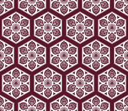 Vector Arabic seamless pattern with floral elements. Royalty Free Stock Photography
