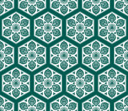 Vector Arabic seamless pattern with floral elements. Royalty Free Stock Image