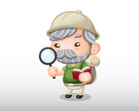 Vector Archaeologist Illustration Royalty Free Stock Images